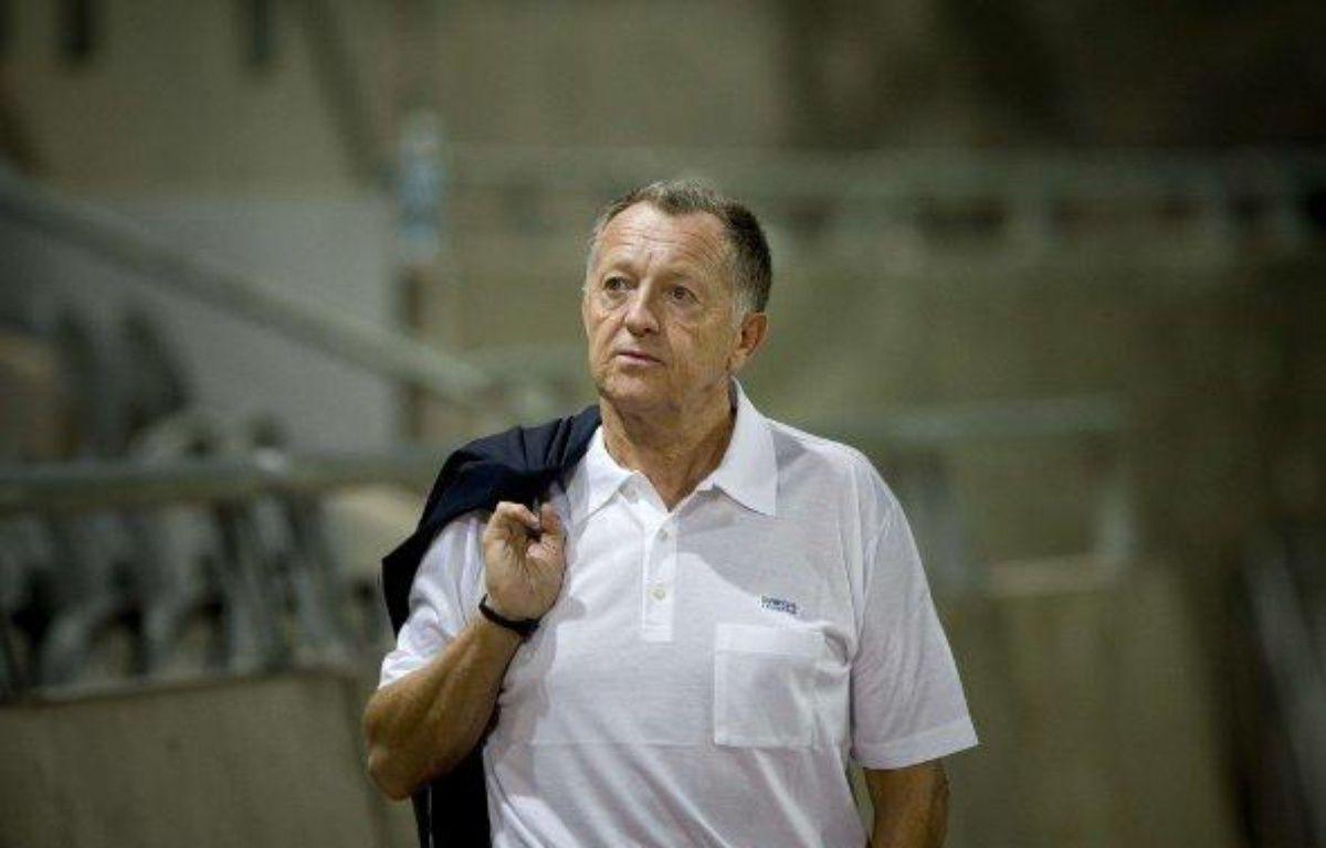 Le président de l'olympique lyonnais, Jean-Michel Aulas, lors d'un match à Tel Aviv en Ligue des champions, le 28 septembre 2010. – A.Shalit/Sipa