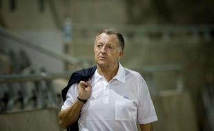 Le président de l'olympique lyonnais, Jean-Michel Aulas, lors d'un match à Tel Aviv en Ligue des champions, le 28 septembre 2010.