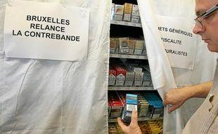 Nants (Loire-Atlantique), le 06/09/2012. Manifestation de buralistes contre le plan anti tabac du gouvernement.