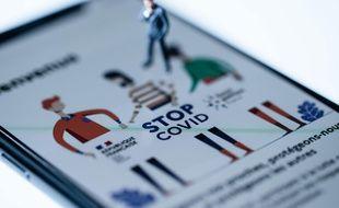 Illustration de l'application StopCovid, vouée à être remplacée à partir du 22 octobre.