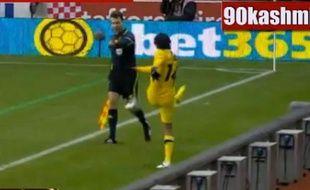 Capture d'écran d'un match de Ligue Europa le 20 octobre 2011.