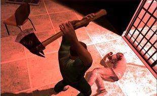 Une scène de meurtre à la hache dans le jeu de Rockstar Games