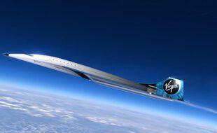 Un avion supersonique de chez Virgin (illustration).