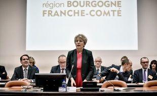 Marie-Guite Dufay, ici en janvier 2016, a protesté énergiquement contre les propos de l'élu RN.