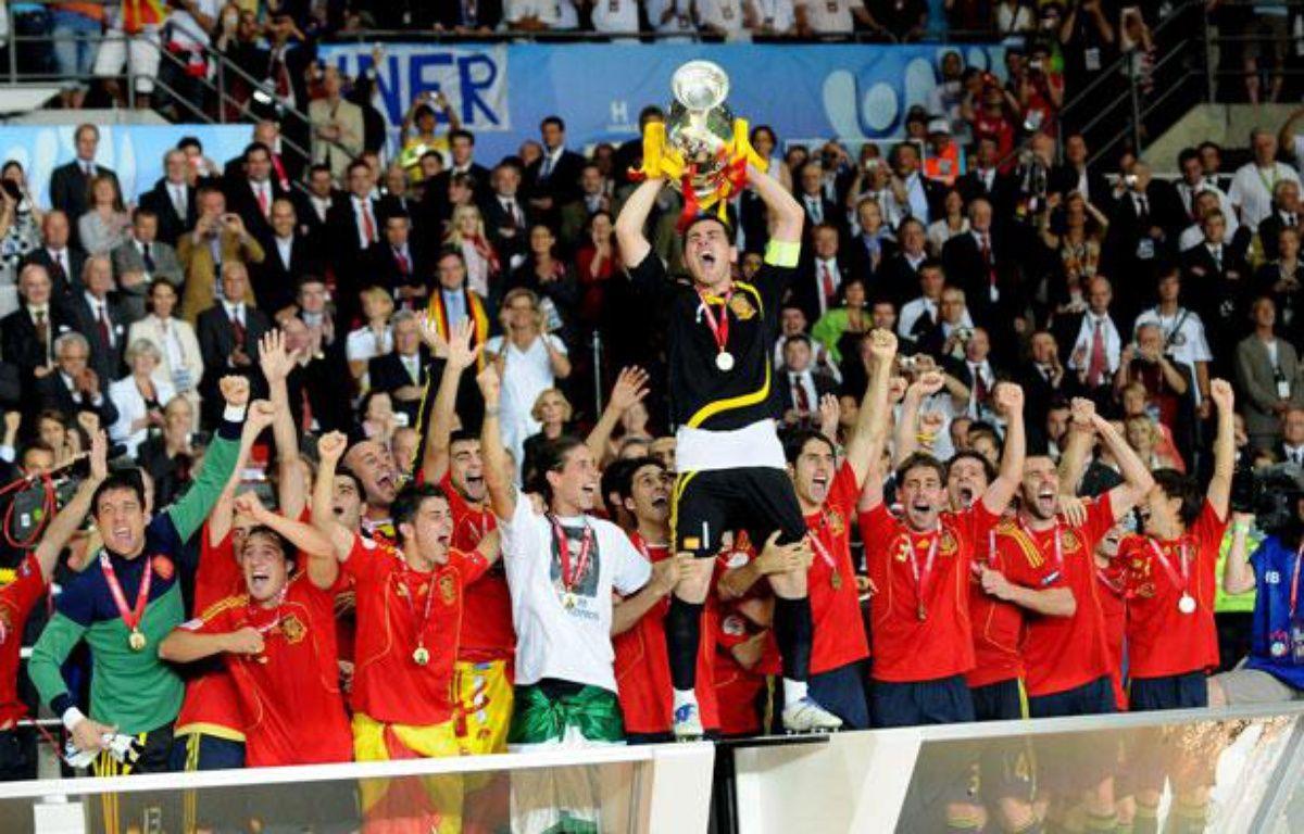 L'Espagne a remporté l'Euro 2008 à Vienne en Autriche. – TSCHAEN/SIPA