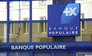 Une agence de la Banque Populaire.