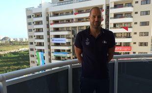 Le joueur français de water polo Thibaut Simon