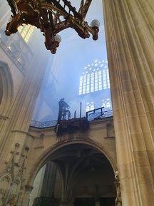 Le grand orgue entièrement détruit