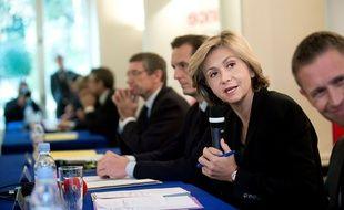 Valérie Pécresse lors d'une conférence de presse, le 20 janvier 2016.
