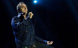 Le chanteur Morrissey sur scène à Göteborg en Suède en 2016