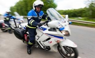 Des motards de la police. Illustration.