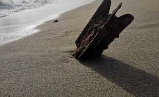 L'une des bombes retrouvées sur la plage à Torreilles