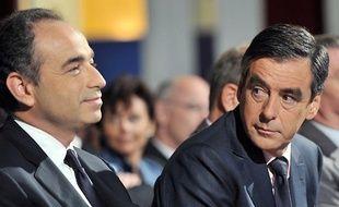 Jean-François Copé et François Fillon auTouquet, le 25 septembre 2009.