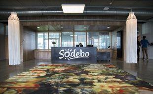 L'accueil de l'entreprise Sodebo.