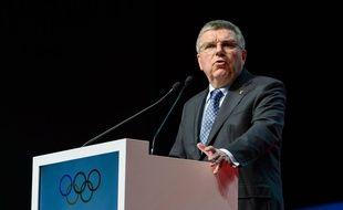Le président du Comité international olympique, Thomas Bach, le 19 avril 2016 à Lausanne.
