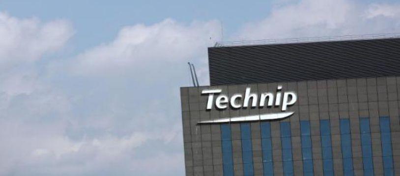 Le logo du groupe Technip, à La Défense près de Paris, le 3 juillet 2009