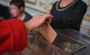 Strasbourg le 29 mars 2015. Illustrations elections departementales second tour