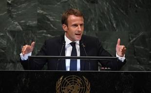 Emmanuel Macron s'exprimait pour la deuxième fois devant l'assemblée générale de l'ONU.