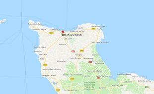 Une roquette a été déposée sur le perron de la police municipale de Cherbourg.