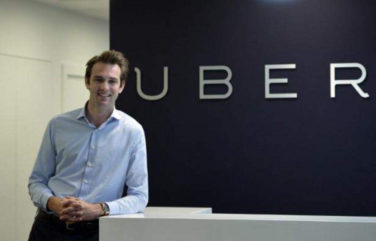 Thibaud Simphal, le directeur général de Uber France, le 19 mai 2015 à Paris –  AFP
