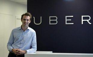 Thibaud Simphal, le directeur général de Uber France, le 19 mai 2015 à Paris