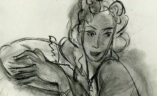 Extrait du dessin de Matisse mis aux enchères à Manosque