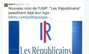 Le nouveau logo des Républicains.