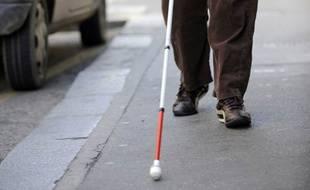Une personne aveugle (illustration)