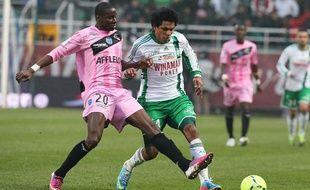L'attaquant de Saint-Etienne Brandao lors du match contre Troyes le 30 mars 2013.
