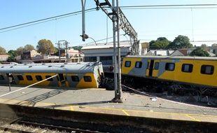 La collision entre deux trains dans la gare de Denver en Afrique du sud, le 28 avril 2015