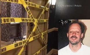 Capture d'écran montrant la chambre d'hôtel louée par le tireur de Las Vegas, Stephen Paddock.