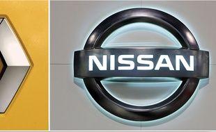 Les logos de Renault et Nissan.