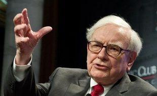 Le milliardaire Warren Buffet s'exprime au dîner du Club économique de Washington, le 5 juin 2012