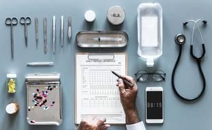 Illustration du système de santé français.