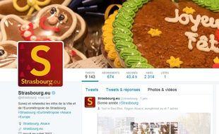Compte Twitter de la ville de Strasbourg.