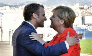 Emmanuel Macron et Angela Merkel  à Marseille, le 7 septembre 2018.