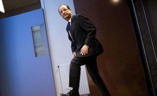 François Hollande à son QG de campagne, le 20 janvier 2011.