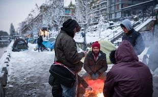 Demandeurs d'asile à Paris le è février 2021