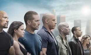 Les principaux acteurs de Fast & Furious 7.