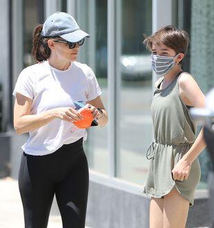 Jennifer Garner et sa fille Seraphina, le 12 juin, à Brentwood.