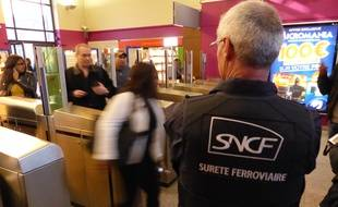 Illustration de la police ferroviaire de la SNCF.