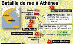 Après l'enterrement d'Alexis mardi 9 décembre, les affrontements ont repris dans à Athènes.