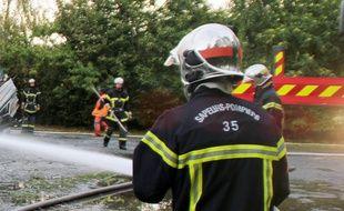 Illustration d'un pompier intervenant sur un incendie.