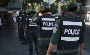 La police cambodgienne a arrêté les suspects en début de semaine (illustration).
