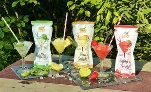 Les trois cocktails confectionnés par Hadrien.