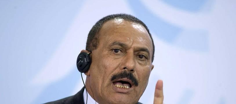 L'ex-président yéménite Ali AbdallahSaleh le 27 février 2008 à Berlin.