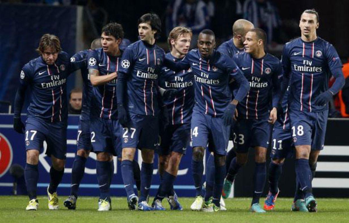 Les joueurs parisiens lors de la victoire contre Porto en Ligue des champions le 4 décembre 2012 à Paris. – REUTERS