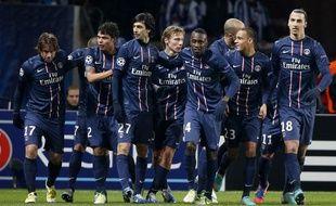 Les joueurs parisiens lors de la victoire contre Porto en Ligue des champions le 4 décembre 2012 à Paris.