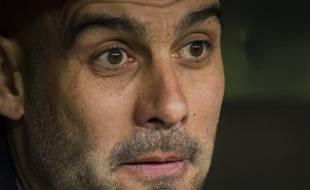 Pep Guardiola, l'entraîneur du Bayern Munich, le 11 mars 2014, en Ligue des champions.