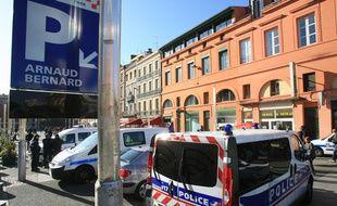Operation de police dans le quartier populaire Arnaud Bernard.